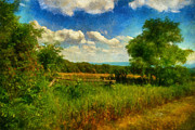 Split Rail Fence Digital Art - Split Rail Fence by Lois Bryan