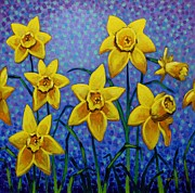 Perspective Paintings - Spring Daffodils by John  Nolan
