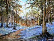 Great Outdoors Painting Posters - Spring in Wentwood Poster by Andrew Read