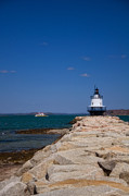 New England Ocean Prints - Spring Point Ledge Light Print by Joann Vitali