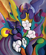 Abstract Art On Canvas Paintings - Spring Symphonia  by Tiffany Davis-Rustam