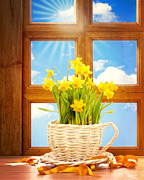 Mothers Day Prints - Spring Window Print by Christopher and Amanda Elwell