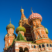 Awesome Prints - St. Basils Cathedral - Square Print by Alexander Senin