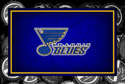 Puck Framed Prints - St Louis Blues Framed Print by Joe Hamilton