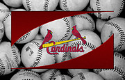 Infield Prints - St Louis Cardinals Print by Joe Hamilton