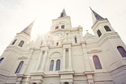 Sunflare Framed Prints - St Louis Cathedral Framed Print by Erin Johnson