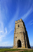 Tor Photo Framed Prints - St Michaels Tower Glastonbury Tor Framed Print by Robert Preston