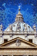 Vatican Paintings - St Peter in Vatican by George Atsametakis