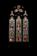Stained Glass Windows Prints - Stained Glass Print by Adrian Evans