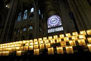 BERNARD JAUBERT - Stained glass window of Notre Dame de Paris. France