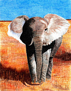 Color Pencil Drawings - Standing Guard by Linda Ginn