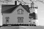 Startford Point Light Print by Catherine Reusch  Daley
