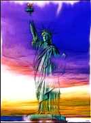 Liberty Island Digital Art - Statue of Liberty by Daniel Janda