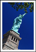 Hi-rise Framed Prints - Statue Of Liberty  Framed Print by Geri Scull
