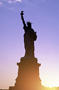 Statue Photo Prints - Statue of Liberty Print by Tony Cordoza