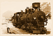 Steam Train Prints - Steam Locomotive Print by Ha Ko