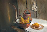 Vasil Vasilev - Still life with pears