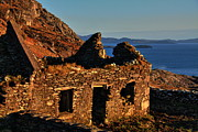 Old House Photographs Metal Prints - Stone House Ruin Metal Print by Aidan Moran