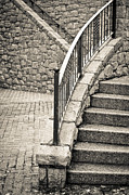 Stone Steps Prints - Stone steps Print by Tom Gowanlock