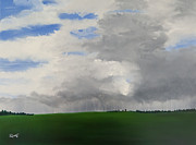 Storm Clouds Paintings - Stormy Afternoon by Diann Diaz