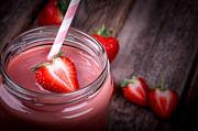 Strawberry Smoothie Print by Jane Rix