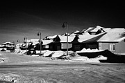 Suburbia Prints - suburbian houses covered in snow during bright crisp winter day Saskatoon Saskatchewan Canada Print by Joe Fox