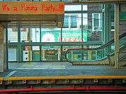 Subway Mixed Media - Subway Pizza by Phillip Allen