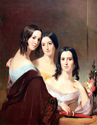 Thomas Sully Prints - Sullys The Coleman Sisters Print by Cora Wandel