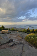 Down East Maine Art - Summer Evening On Cadillac Mountain by Stephen  Vecchiotti