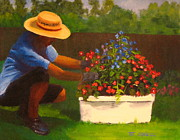 Patrick Paintings - Summer Flowers by Patrick ODriscoll