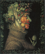 Fruits And Vegetables Framed Prints - Summer Framed Print by Giuseppe Arcimboldo