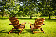 Chairs Art - Summer relaxing by Elena Elisseeva