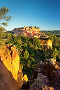 Provence Photos - Sunrise over Roussillon by Brian Jannsen