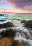 Rocks Prints - Sunrise Surge Print by Mike  Dawson