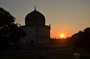 Qutb Posters - Sunset at Qutub Shahi Tombs Poster by Aravind Teki