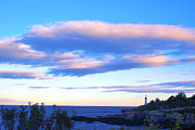 Park Scene Digital Art - Sunset In Fork Williams Lighthouse Park Portland Maine State by Paul Ge