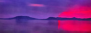 Filter Paintings - Sunset on Balaton lake by Odon Czintos