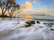 Hawaii Prints - Sunset Tides Print by Mike  Dawson