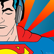 Pop Culture Digital Art Prints - Superman  Print by Mark Ashkenazi