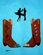 Joseph Frank Baraba Painting Prints - Swing Your Partner Print by Joseph Frank Baraba