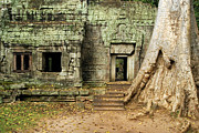 Religious Art Photos - Ta Prohm Temple Ruins by Artur Bogacki