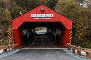Historic Site Photo Metal Prints - Taftsville Covered Bridge Vermont Metal Print by Edward Fielding