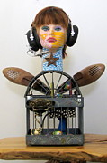 Assemblage Sculpture Originals - Take Your Wings And Soar by Keri Joy Colestock