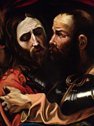 Caravaggio Posters - Taking of Christ detail Poster by Massimo Tizzano