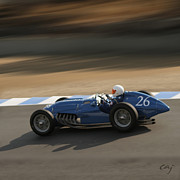 Curt Johnson Art - Talbot Lago T26c 1950  by Curt Johnson