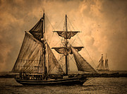 Wooden Ship Photo Framed Prints - Tall Ships Framed Print by Dale Kincaid
