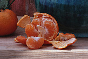 Tangerine Posters - Tangerines Poster by Luv Photography