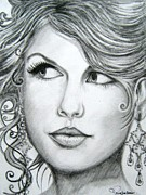 Taylor Swift Drawings - Taylor Swift by Patrice Torrillo