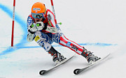 Snow Boarding Prints - Ted Ligety skiing  Print by Lanjee Chee