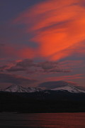 Tenmile Range Art - Ten Mile Range at sunset by Jetson Nguyen
